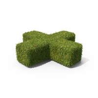 Grass Plus Symbol on Ground PNG & PSD Images
