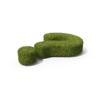 Grass Question Mark Symbol on Ground PNG & PSD Images