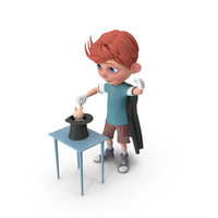 Cartoon Boy Charlie Performing A Hat Trick PNG & PSD Images
