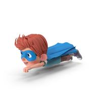 Cartoon Boy Charlie Superhero Flying PNG & PSD Images