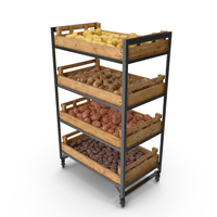 Shelf With Potatoes PNG & PSD Images