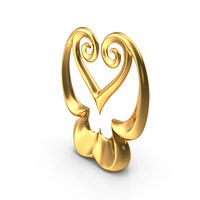 Golden Abstract Figure PNG & PSD Images