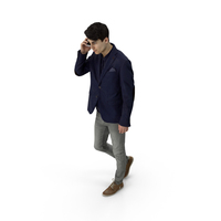 Man on Phone PNG & PSD Images