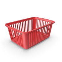 Plastic Handy Basket Red PNG & PSD Images