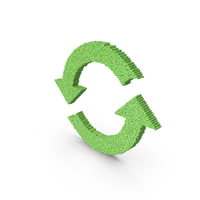Reuse Recycle Voxel PNG & PSD Images