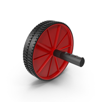 Ab Roller Wheel Red PNG & PSD Images