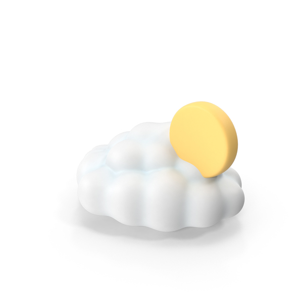 Partly Cloudy Weather Symbol PNG & PSD Images