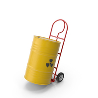 Hand Cart With Barrel PNG & PSD Images