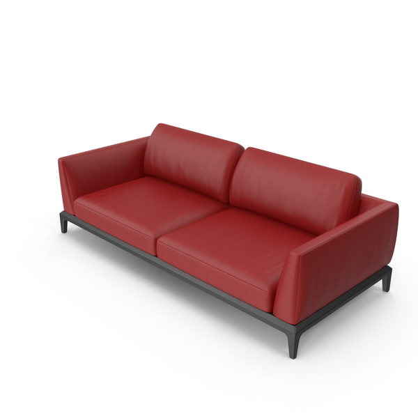 Red Leatheri Akita Sofa PNG & PSD Images
