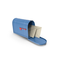 Mailbox Blue PNG & PSD Images