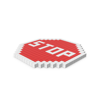 Pixelated Stop Sign PNG & PSD Images