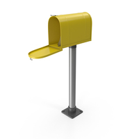 Mailbox On Post Opened Yellow PNG & PSD Images