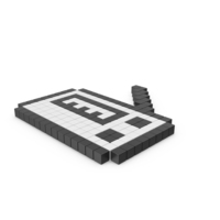 Radio Receiver Pixelated Icon PNG & PSD Images
