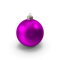 Pink Christmas Ornament PNG & PSD Images