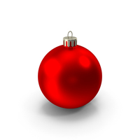 Red Christmas Ornament PNG & PSD Images