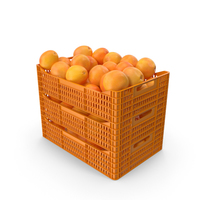 Plastic Crates with Grapefruits PNG & PSD Images