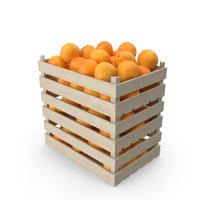 Wooden Crates with Grapefruits PNG & PSD Images