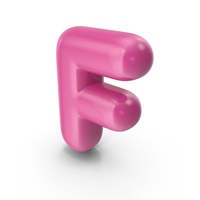 Toon Balloon Letter F PNG & PSD Images
