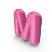 Toon Balloon Letter M PNG & PSD Images