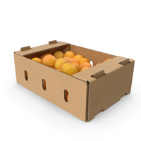 Cardboard Box with Grapefruits PNG & PSD Images