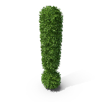 Hedge Shaped Exclamation Mark PNG & PSD Images