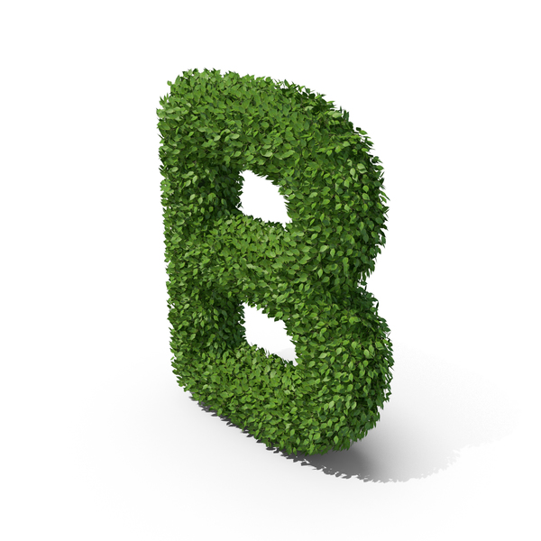 Hedge Shaped Letter B PNG & PSD Images