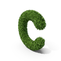 Hedge Shaped Letter C PNG & PSD Images