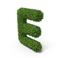 Hedge Shaped Letter E PNG & PSD Images