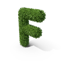Hedge Shaped Letter F PNG & PSD Images