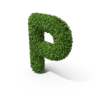 Hedge Shaped Letter P PNG & PSD Images