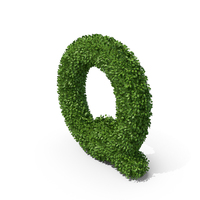 Hedge Shaped Letter Q PNG & PSD Images