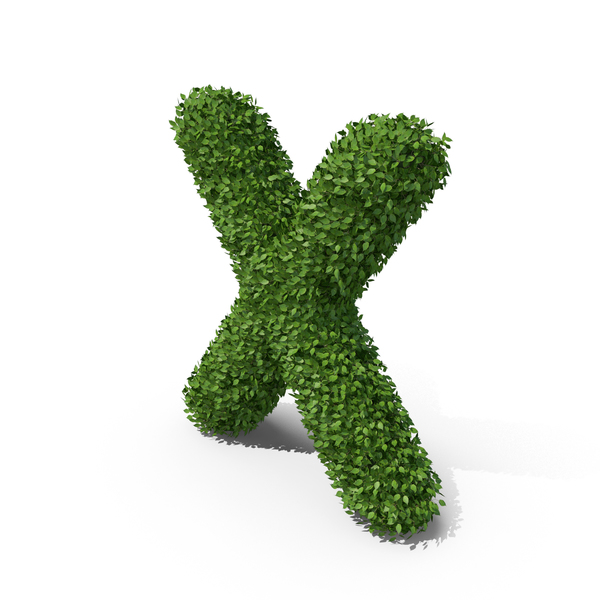 Hedge Shaped Letter X PNG & PSD Images