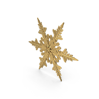 Golden Snowflake PNG & PSD Images