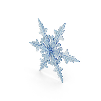 Deep Blue Snowflake PNG & PSD Images