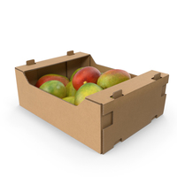 Cardboard Display Box with Mangos PNG & PSD Images