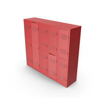 Red Lockers PNG & PSD Images