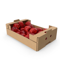 Cardboard Box with Red Chief Apples PNG & PSD Images