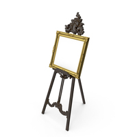 Baroque Tripod and Picture PNG & PSD Images