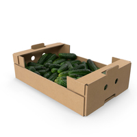 Cardboard Display Box with Kirby Cucumbers PNG & PSD Images