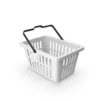 Plastic Shopping Basket White PNG & PSD Images