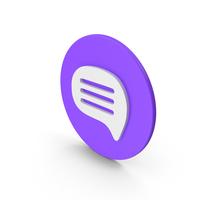 Violet Message PNG & PSD Images