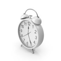 White Alarm Clock PNG & PSD Images