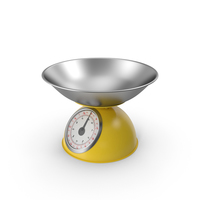 Mechanical Kitchen Scale Yellow PNG & PSD Images