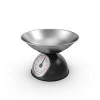 Retro Mechanical Kitchen Scale Black PNG & PSD Images