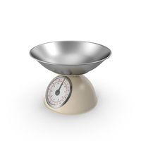 Retro Mechanical Kitchen Scale Beige PNG & PSD Images
