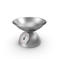 Retro Mechanical Kitchen Scale Silver PNG & PSD Images