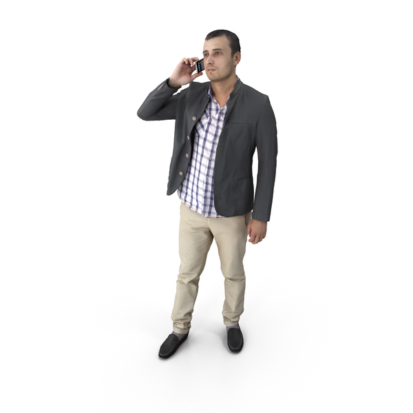 Man Talking on Phone PNG & PSD Images