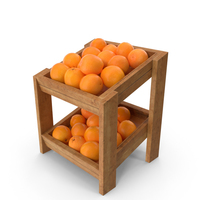 Wooden Shelf With Oranges PNG & PSD Images