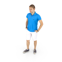 Man Standing Summer Casual PNG & PSD Images