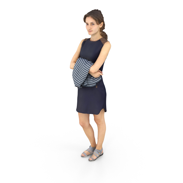 Woman Standing with Coat PNG & PSD Images